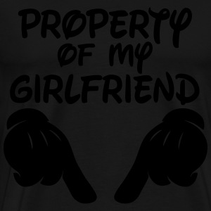 Property Of My Girlfriend Hoodies - Men's Premium T-Shirt