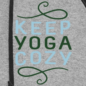 Keep Yoga Cozy - Classic V-Neck - Colorblock Hoodie