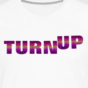 TURN UP HOODIE | TRIBAL PRINT DESIGN - Men's Premium Long Sleeve T-Shirt