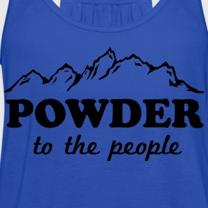 Powder to the People Women's T-Shirts - Women's Flowy Tank Top by Bella