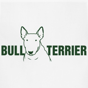 Bull Terrier sitting 1c_4light Women's T-Shirts - Adjustable Apron