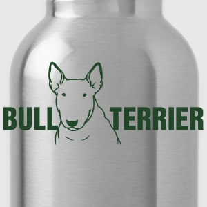 Bull Terrier sitting 1c_4light Women's T-Shirts - Water Bottle