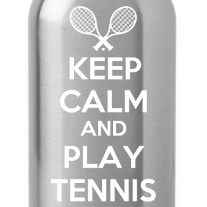 keep calm and play tennis - Water Bottle