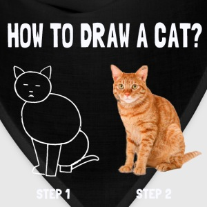 how to draw a cat - Bandana