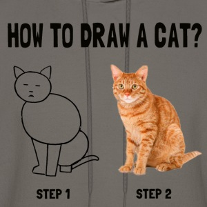 how to draw a cat - Men's Hoodie