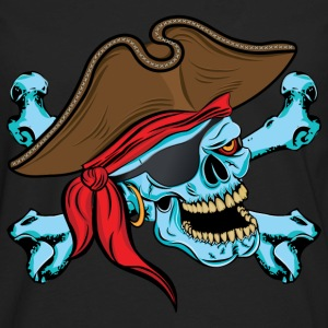 Pirate Skull Hoodies - Men's Premium Long Sleeve T-Shirt