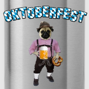 Oktoberfest Pug with beer and pretzel Bags & backpacks - Water Bottle