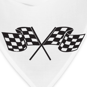 Checkered Flag - Racing - Race Car Women's T-Shirts - Bandana
