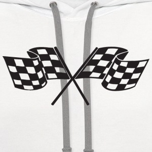 Checkered Flag - Racing - Race Car Kids' Shirts - Contrast Hoodie