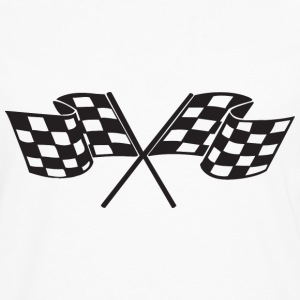 Checkered Flag - Racing - Race Car Kids' Shirts - Men's Premium Long Sleeve T-Shirt