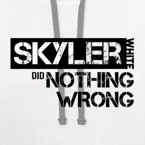 Breaking Bad: Skyler White did Nothing Wrong Women's T-Shirts - Contrast Hoodie
