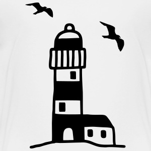 Lighthouse with seagulls Kids' Shirts - Toddler Premium T-Shirt