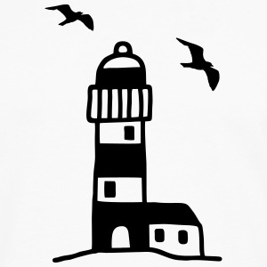 Lighthouse with seagulls T-Shirts - Men's Premium Long Sleeve T-Shirt