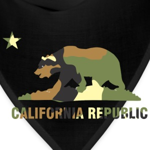 CALIFORNIA REPUBLIC Bear Camoflage T-Shirts - Bandana