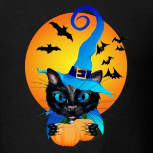Blue Witch Kitty -Harvest Moon - Men's T-Shirt