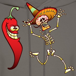 Hot Chili Pepper Nightmare for a Mexican Skeleton T-Shirts - Men's Hoodie