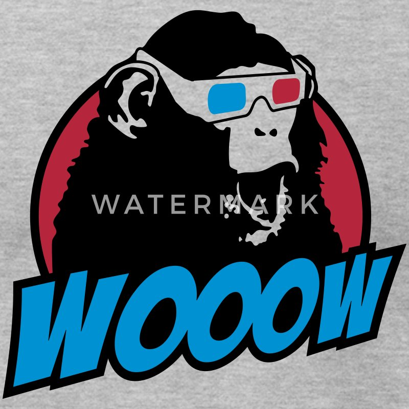 3D Glasses amazed Monkey T-Shirts - Men's T-Shirt by American Apparel