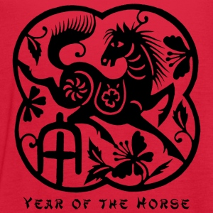 Year of The Horse Paper Cut T-Shirt - Women's Flowy Tank Top by Bella