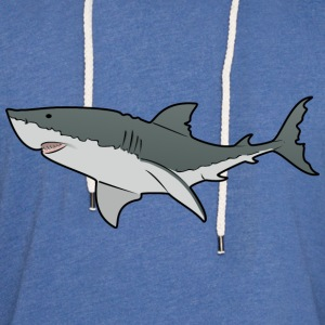 Great White Shark - Ocean - Sea T-Shirts - Unisex Lightweight Terry Hoodie