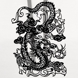 Dragon - Asian - Tattoo - Fantasy Kids' Shirts - Contrast Hoodie