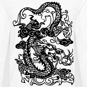 Dragon - Asian - Tattoo - Fantasy Kids' Shirts - Men's Premium Long Sleeve T-Shirt