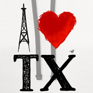 I Heart Texas (remix) by Tai's Tees - Contrast Hoodie