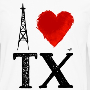 I Heart Texas (remix) by Tai's Tees - Men's Premium Long Sleeve T-Shirt