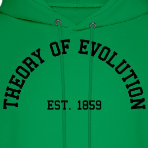 Theory of Evolution - Est. 1859 (half-circle) T-Shirts - Men's Hoodie