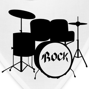Rock Drummer - Drums - Rock and Roll - Band T-Shirts - Bandana