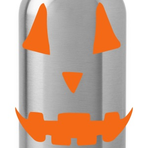 Pumpkin Face Long Sleeve Shirts - Water Bottle