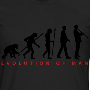 evolution_klarinette_spieler_082013_b_2c T-Shirts - Men's Premium Long Sleeve T-Shirt