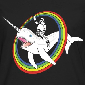 Narwhal Rainbow Stormtrooper - Men's Premium Long Sleeve T-Shirt