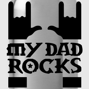 my dad rocks Kids' Shirts - Water Bottle