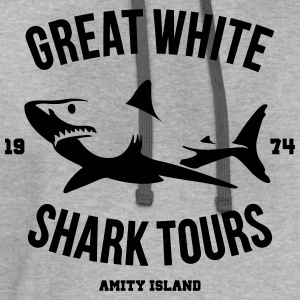 Great White Shark Tours - Contrast Hoodie