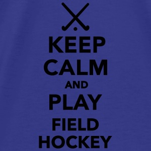 Keep calm play Field Hockey Bags & backpacks - Men's Premium T-Shirt