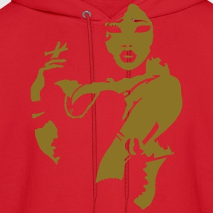 Sexy Smoking Pinup Girl T-Shirts - Men's Hoodie