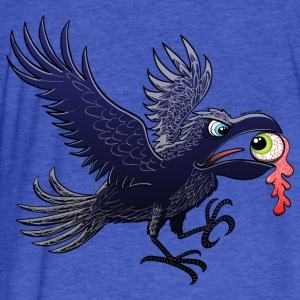 Crow Stealing an Eye Sweatshirts - Fitted Cotton/Poly T-Shirt by Next Level