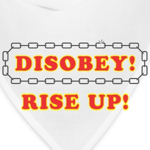 disobey_rise_up T-Shirts - Bandana