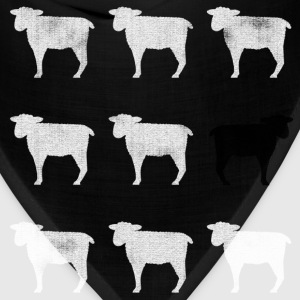 Many White Sheep; One Black Sheep. - Bandana