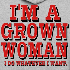 I'M A GROWN WOMAN - Contrast Hoodie