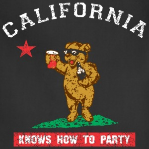 Young California Knows To Party T-Shirts - Adjustable Apron