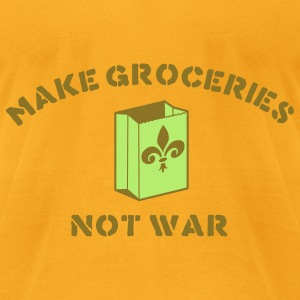 make groceries not war - new orleans Bags & backpacks - Men's T-Shirt by American Apparel