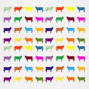 colorful cows T-Shirts - Adjustable Apron