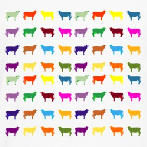 colorful cows T-Shirts - Men's Premium Long Sleeve T-Shirt