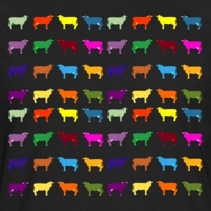 colorful cows Kids' Shirts - Men's Premium Long Sleeve T-Shirt