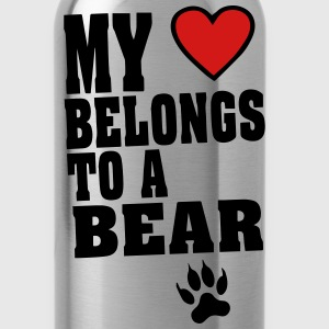 MY HEART BELONGS TO A BEAR T-Shirts - Water Bottle
