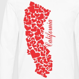 Heart Cali Map Men's Tshirt - Men's Premium Long Sleeve T-Shirt
