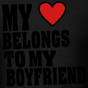 MY HEART BELONGS TO MY BOYFRIEND Hoodies - Men's T-Shirt