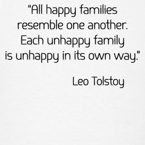 Leo Tolstoy on Happiness Tanks - Men's T-Shirt