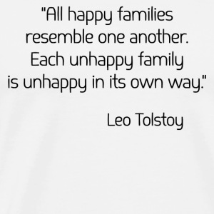 Leo Tolstoy on Happiness Tanks - Men's Premium T-Shirt